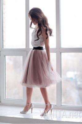 Шелк фатин юбка